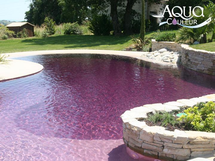Aquacouleur tm coloration de piscine de piscine - Piscine eau noire besancon ...